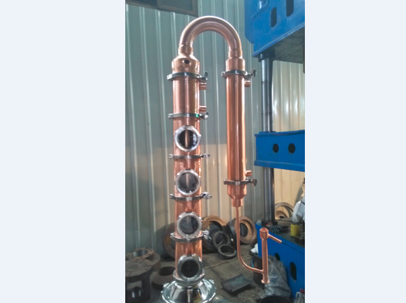 4 plate 4inch copper reflux cloumn