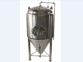 3 Barrel Jacketed Conical Fermenter with Side Manway
